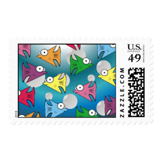 F is for Fishy Postage Stamps