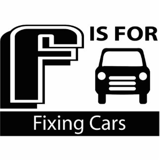 F Is For Fixing Cars Photo Sculpture Ornament