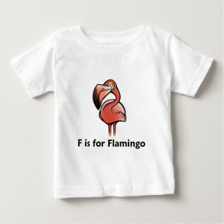 F is for Flamingo Baby T-Shirt