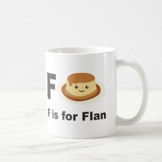 F is for Flan Coffee Mug