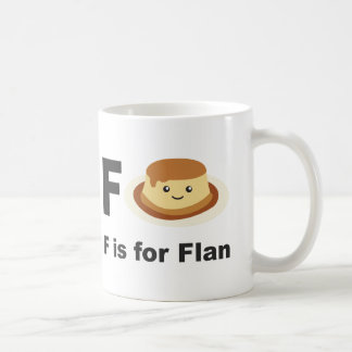 F is for Flan Classic White Coffee Mug