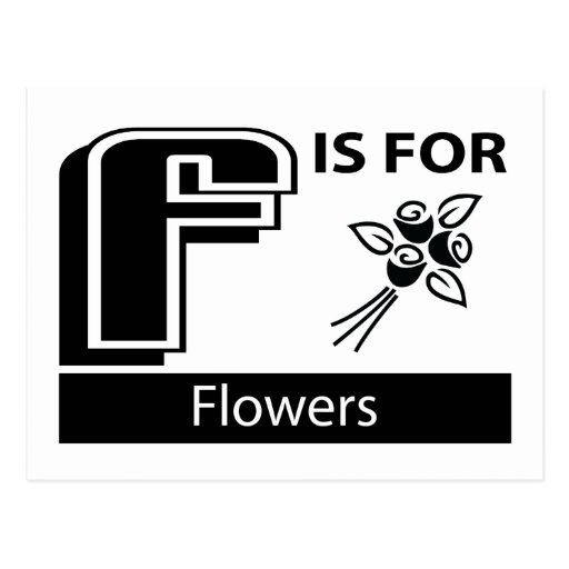 F Is For Flowers Post Cards