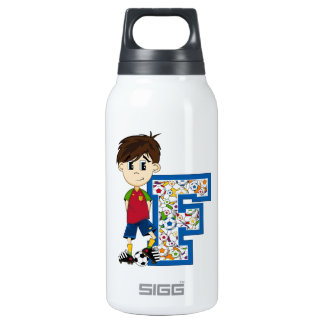 F is for Football Insulated Water Bottle