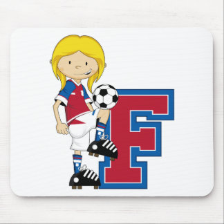F is for Football Mouse Pad