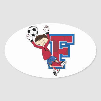F is for Football Oval Sticker