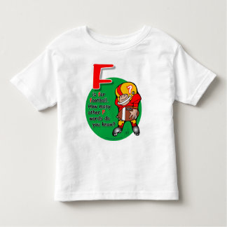 F is for football shirt
