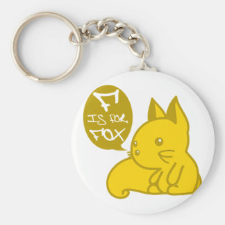 F is for Fox Keychain