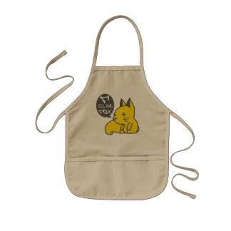 F is for Fox Kids' Apron