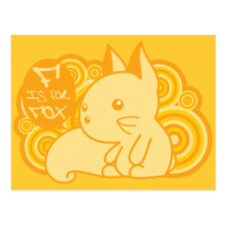 F is for Fox Postcard