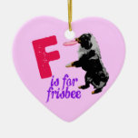 F is for Frisbee Ornament
