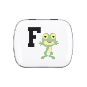 F is for Frogman Jelly Belly Candy Tin
