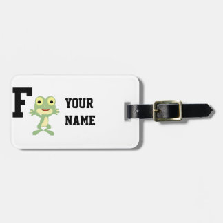 F is for Frogman Luggage Tag
