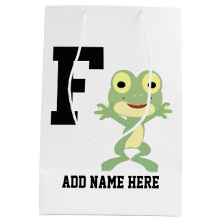 F is for Frogman Medium Gift Bag