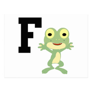 F is for Frogman Postcard