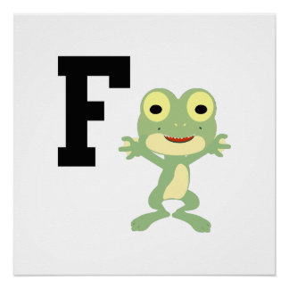 F is for Frogman Poster