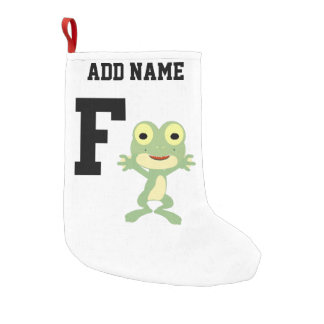 F is for Frogman Small Christmas Stocking