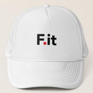 F It Anti Fitness Slogan Trucker Hat
