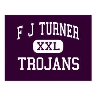 F J Turner - Trojans - High - Beloit Wisconsin Postcard