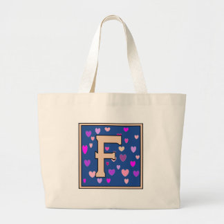 F-Just Peachy Monogram Jumbo Tote Tote Bags