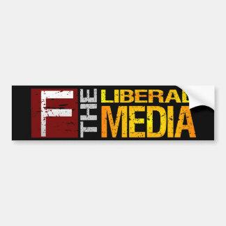 F la pegatina para el parachoques liberal de los m pegatina de parachoque