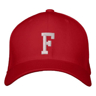 F Letter Embroidered Hat