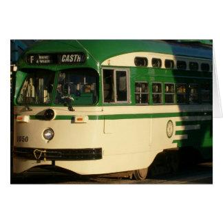 F Line Trolley Greeting Card