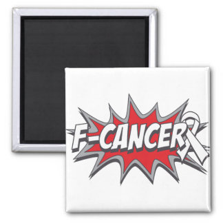 F-Lung Cancer 2 Inch Square Magnet
