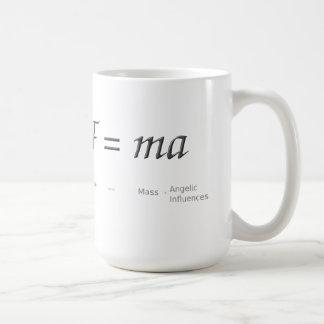 F = ma coffee mug