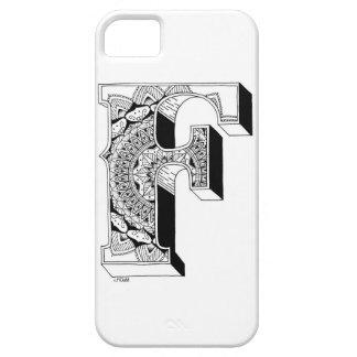 F - Mandala N°1 inside Alphabet N°1 iPhone SE/5/5s Case