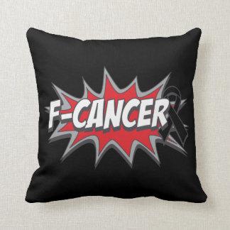 F-Melanoma Cancer Throw Pillow