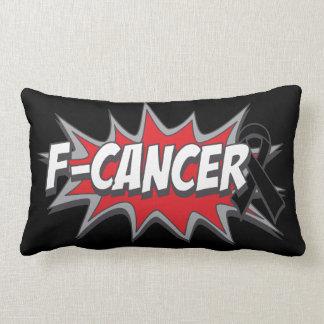 F-Melanoma Cancer Throw Pillows