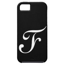 F Monogram Black IPhone 5 Case