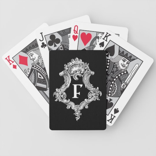 F Monogram Initial Bicycle Playing Cards
