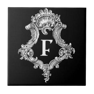 F Monogram Initial Tile