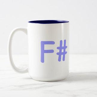 F#-mug Two-Tone Coffee Mug