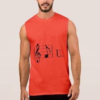 F (note) U Sleeveless Shirt