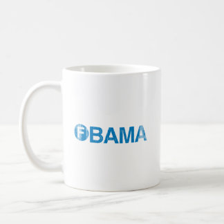 F OBAMA Faded png Tazas