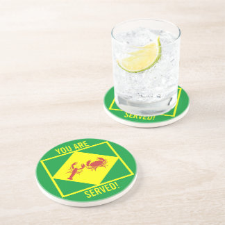 f OP YOU ARE SERVED Drink Coaster