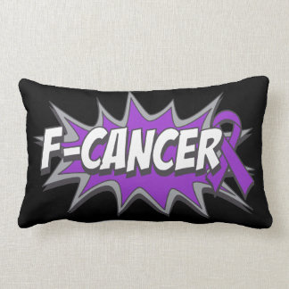 F-Pancreatic Cancer Throw Pillow