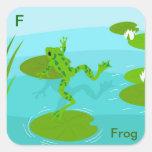 F para el pegatina de la rana