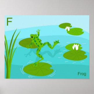 F para el poster de la rana