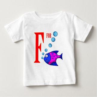 F para los pescados playera de bebé