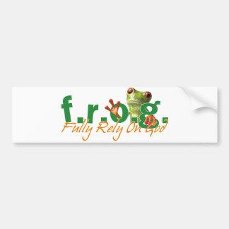 F.R.O.G. Bumper Sticker
