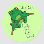 F.R.O.G. Confíe completamente en dios #1 Etiquetas