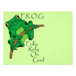 F.R.O.G. Confíe completamente en dios #1 Comunicados Personalizados