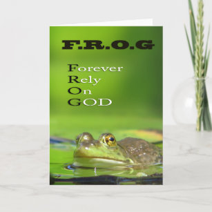 Frog sayings cards zazzle frog foreverlyongod greeting cards m4hsunfo
