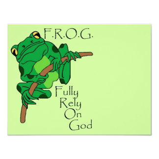 F.R.O.G. Fully Rely On God #1 4.25x5.5 Paper Invitation Card