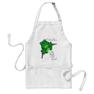F.R.O.G. Fully Rely On God #1 Adult Apron