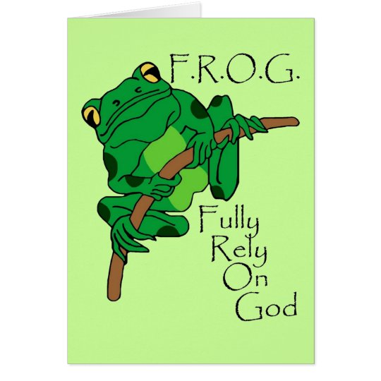 F.R.O.G. Fully Rely On God #1 Card