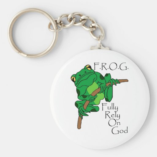 F.R.O.G. Fully Rely On God #1 Keychain